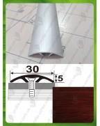 Алюминиевый порожек под дерево АП 016 махагон 2.7м, ширина 30 мм