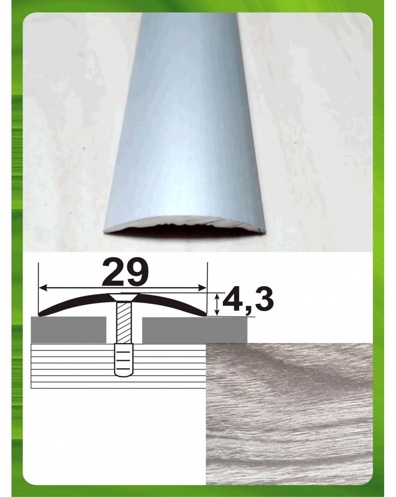 Алюмінієвий поріг під дерево АП 004 акація сіра 0.9м, ширина 29 мм