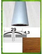 Алюминиевый порожек под дерево АП 004 дуб золотой 0.9м, ширина 29 мм
