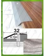 Алюминиевый порожек под дерево А 10 акация серая 2.7м, перепад до 10мм