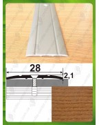 Алюмінієвий поріг під дерево АП 005 дуб рустік 2.7м, ширина 28 мм