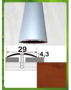 Алюмінієвий поріг під дерево АП 004 вишня 0.9м, ширина 29 мм