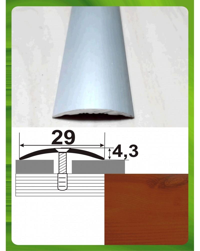 Алюминиевый порожек под дерево АП 004 вишня 0.9м, ширина 29 мм