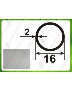 16*2. Алюминиевая круглая труба, анод «Серебро»