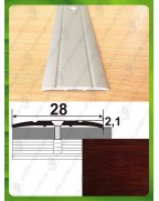 Алюминиевый порожек под дерево АП 005 махагон 0.9м, ширина 28 мм