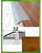 Алюминиевый порожек под дерево А 10 ольха 2.7м, перепад до 10мм