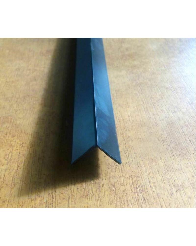 10*10*1. Алюмінієвий куточок рівносторонній, фарбований «Чорний» 3,0 м.