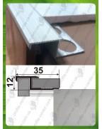 Алюмінієвий Z-подібний профіль для плитки до 10 мм. ПЛ 210 анод «срібло» 2.7м
