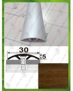 Алюминиевый порожек под дерево АП 016 орех 2.7м, ширина 30 мм