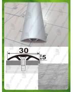 Алюминиевый порожек под дерево АП 016 дуб серый 1.8м, ширина 30 мм