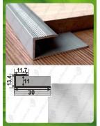 L-образный алюминиевый профиль. СУ 11  без покрытия 3,0м.