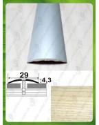 Алюмінієвий поріг під дерево АП 004 ясень 0.9м, ширина 29 мм