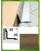 Алюминиевый порожек под дерево АВ 20*20 слива 0.9м, 20мм*20мм