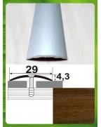 Алюминиевый порожек под дерево АП 004 орех 0.9м, ширина 30 мм