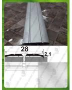 Алюмінієвий поріг АП 005 без покриття. Довжина 2.7 м