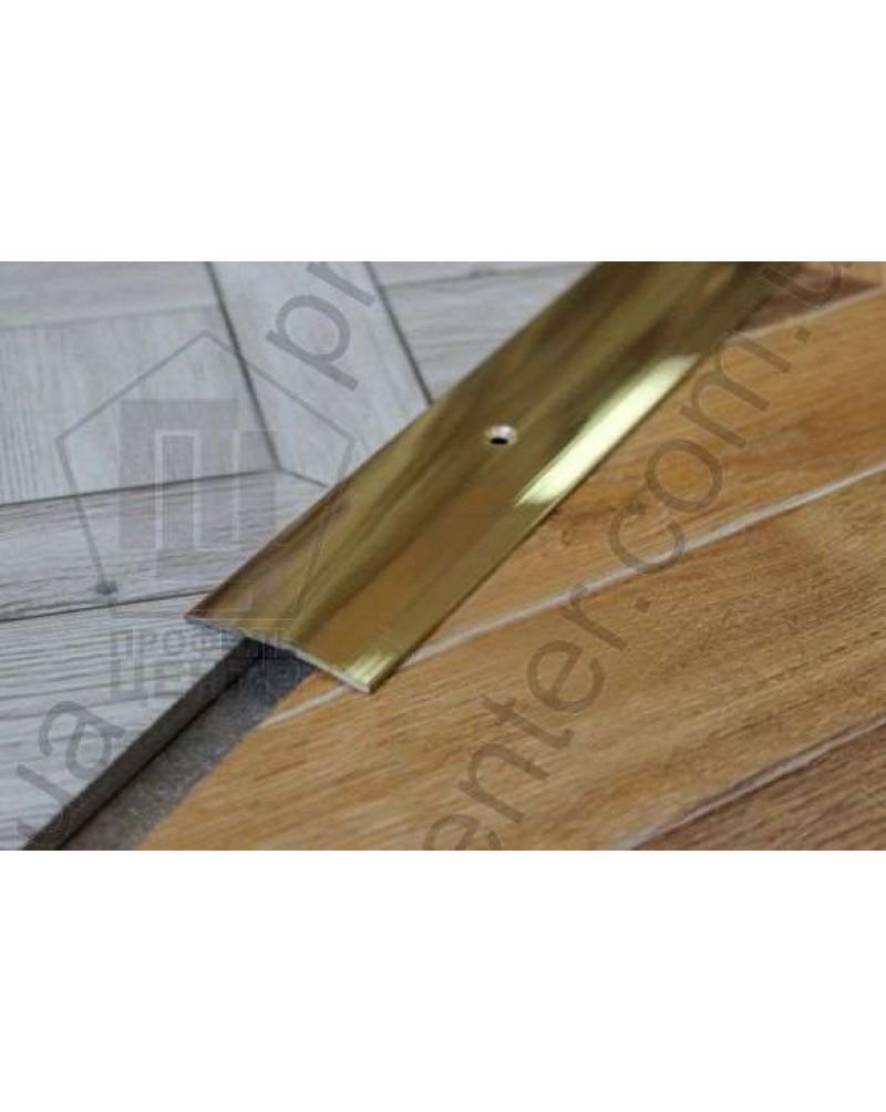 Л 003. Латунный порожек стыковочный, 30 мм. Длина 2.7 м