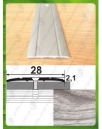Алюмінієвий поріг під дерево АП 005 акація сіра 1.8м, ширина 28 мм