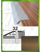 Алюмінієвий поріг різнорівневий А 10 бронза 0.9м, перепад до 10мм