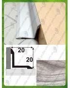 Алюминиевый порожек под дерево АВ 20*20 акация серая 0.9м, 20мм*20мм