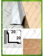 Алюминиевый порожек под дерево АВ 20*20 дуб 2.7м, 20мм*20мм