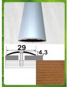 Алюмінієвий поріг під дерево АП 004 дуб рустік 1.8м, ширина 29 мм