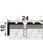 Л 019. Латунный порожек угловой, лестничный, 24мм*10мм. Длина 2.7 м