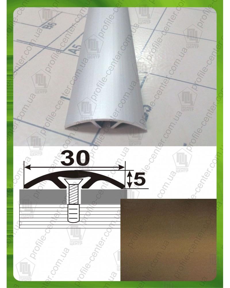 Алюмінієвий поріг стикувальний АП 016 бронза 1.8м, ширина 30 мм