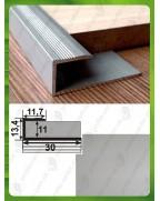 L-подібний алюмінієвий профіль. СУ 11 анод «срібло» 2.7м