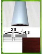 Алюмінієвий поріг під дерево АП 004 махагон 0.9м, ширина 30 мм