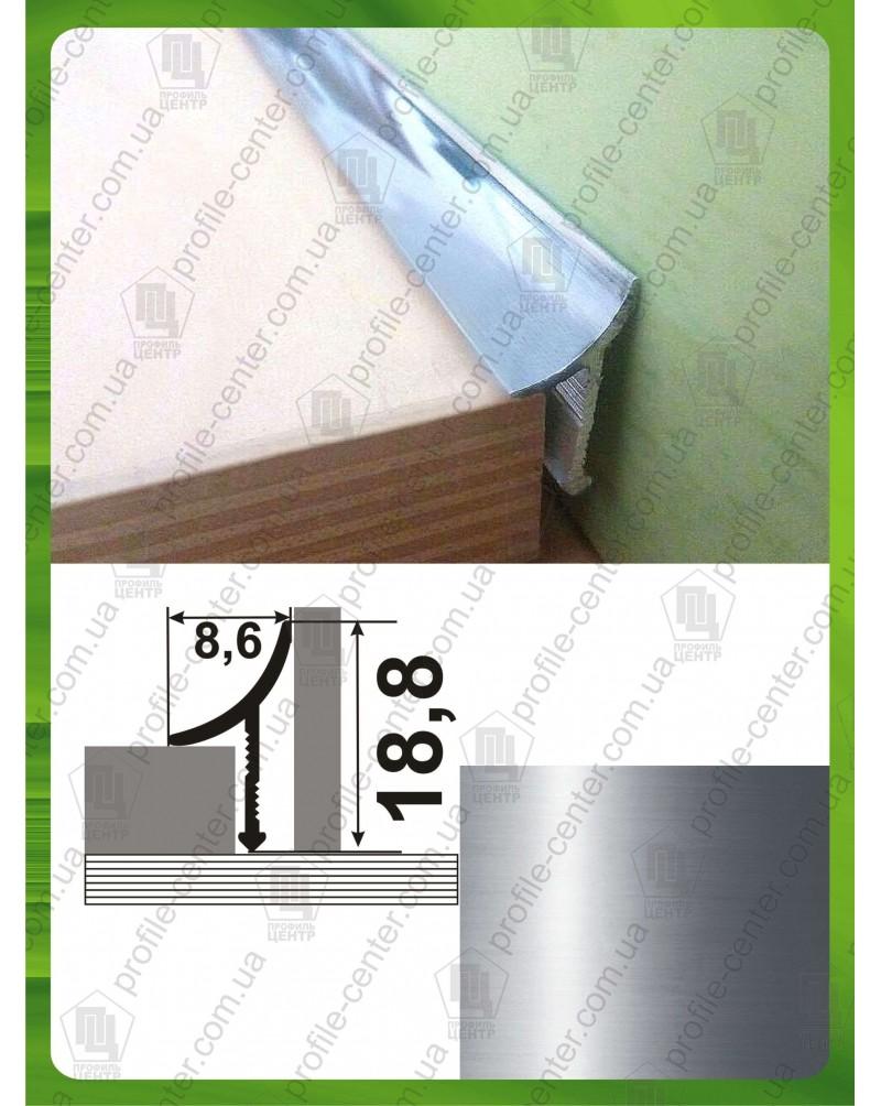 Алюминиевый универсальный внутренний угол для плитки. АВП полированный 2.7м