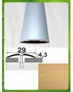 Алюминиевый порожек под дерево АП 004 дуб светлый 0.9м, ширина 29 мм