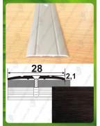 Алюмінієвий поріг під дерево АП 005 венге 1.8м, ширина 28 мм