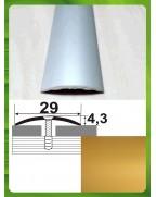 Алюминиевый порожек стыковочный АП 004 золото 1.8м, ширина 29 мм