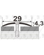 Алюминиевый порожек стыковочный АП 004 золото 0.9м, ширина 29 мм