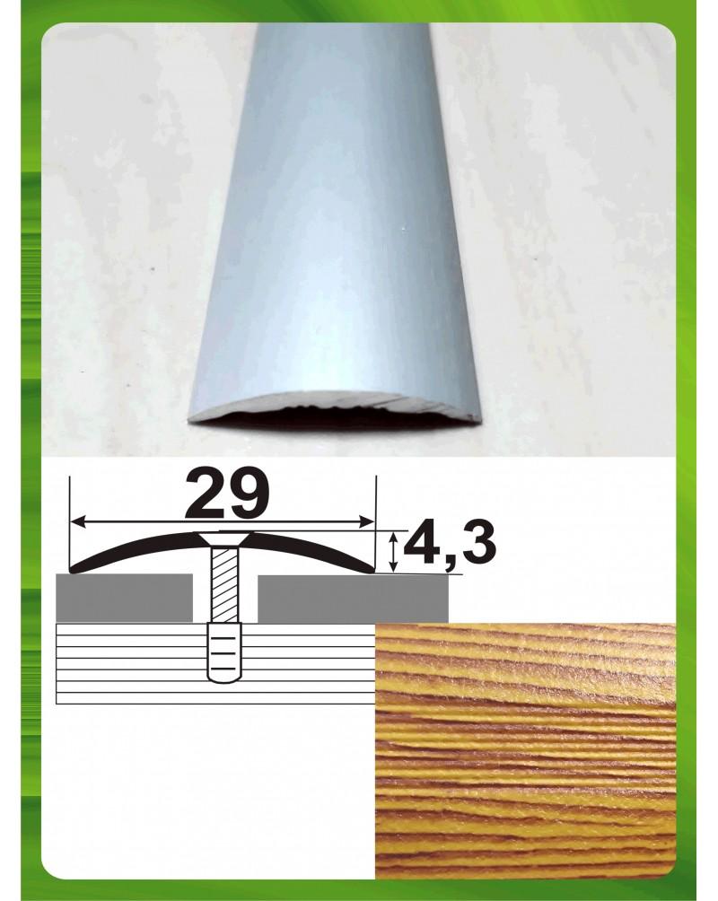 Алюминиевый порожек под дерево АП 004 сосна 0.9м, ширина 30 мм